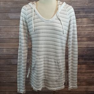 Standard JAMES PERSE Striped Hooded Sweatshirt